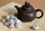 Chinese tea pu-er with a teapot