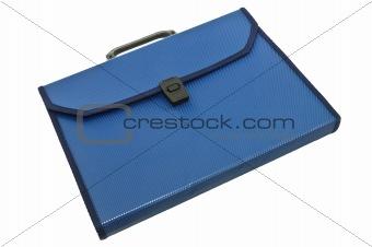 Blue plastic portfolio