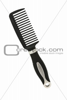 Black comb isolated on white