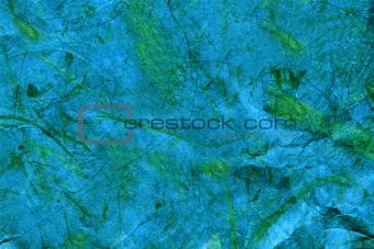 Blue Page With Green Slatters
