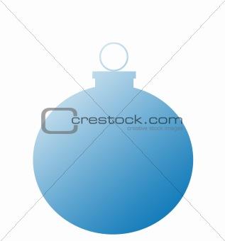 Single Blue Christmas Ball
