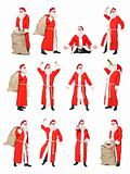 Collage of Santa