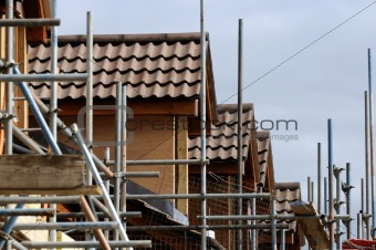 Houses and scaffold