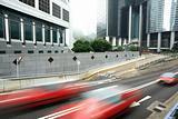 taxi blur in Hong Kong