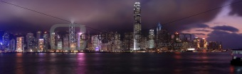 Hong Kong, city at night