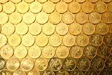 coins background, of Hong Kong currency $0.5 coins