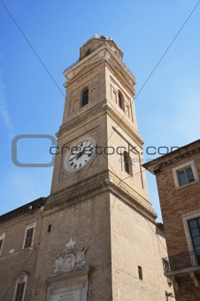 Civic tower. Macerata. Marche.