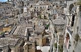Panoramic view of Matera. Basilicata.