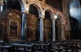 Interior St. Pietro Basilica. Perugia. Umbria.
