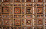 Panelled Ceiling St. Pietro Basilica. Perugia. Umbria.