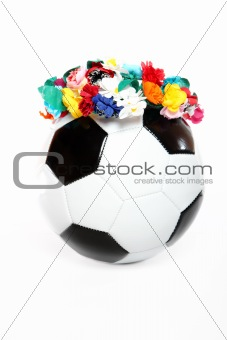 Footbal with a Polish garland