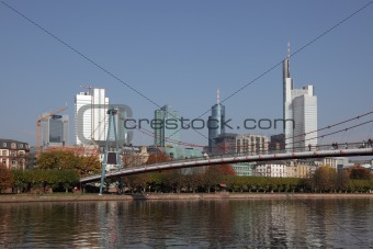 Bridge over the Main river in Frankfurt, Germany