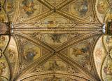 Ceiling St. Lorenzo Cathedral. Perugia. Umbria.