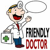 Friendly Doctor Holding Medical Kit