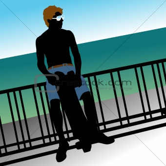 Skateboard Man With Sunglasses