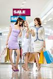 Girl-friends on shopping