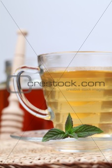 Tea with honey and lemon