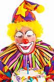 Clown Makes Birthday Wish