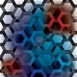 hexagon rainbow seamless