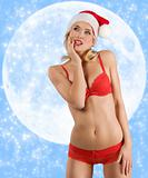 sexy santa claus on the moon
