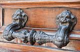 Handle on allwood door.