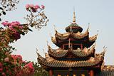 Graceful Chinese temple and flowers