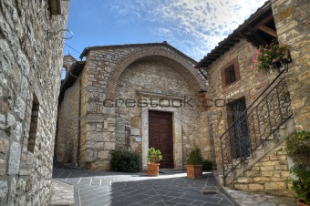 St. Cristoforo Church. Corciano. Umbria.