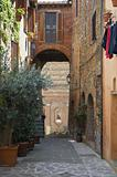 Alleyway. Panicale. Umbria.
