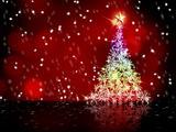 colorful snow Christmas tree