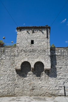 Ancient walls. Gubbio. Umbria.