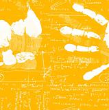 Hand Print with mathematics