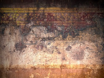 Old grunge wall of thai temple
