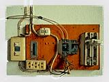 Old electrical panel switch
