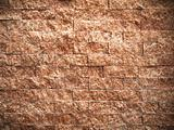 Texture of rectangle pattern red stone