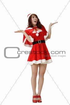 Surprised Christmas girl