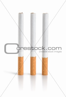 Three cigarettes Isolated (Path)