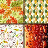 Set floral seamless patterns