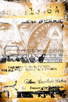 Abstract US dollar