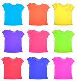 Group of Vibrant Tee Shirts Pattern