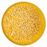 Frozen Corn in a Vibrant Yellow Bowl