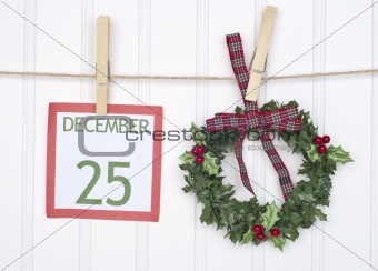Christmas Calendar Page is the Focus of this Holiday Concept Image