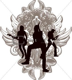 Grunge rock band