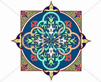 Detailed Arabic motif