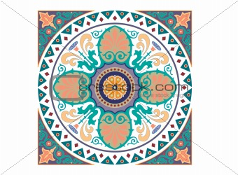 Detailed Arabic motif ornament