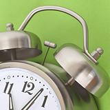 Close Up of Alarm Clock on a Vibrant Background