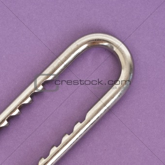 Close Up of Metal Lock on a Vibrant Background