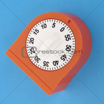 Kitchen Timer on a Vibrant Background