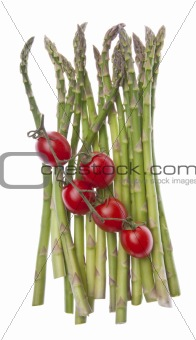 Asparagus and Strawberry Tomatoes