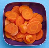 Bowl of Canned Carrots
