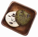 Sliced Cherimoya